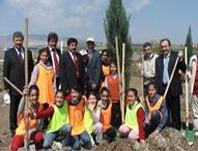 Ağaç dikiminde belediye dernek işbirliği