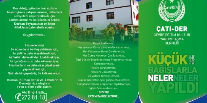 ÇATI-DER Kurbanda Bağışlarınızı Bekliyor!
