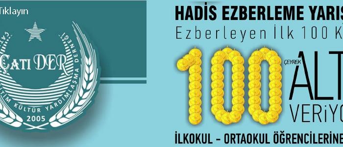 100 ALTIN HEDİYELİ  HADİS EZBERLEME YARIŞMASI  KAZANLAR LİSTESİ